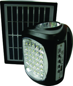 Lil bid solar powered torch and radio set