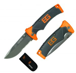 The Bear Grylls Folding knife. A genuine survival folding knife. Complete with sheath and survival instructions.