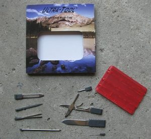 Red Credit card tool The essential Every Day Carry (EDC) tool. Used for peppers and survivalists the world over. Keep it in your wallet for emergencies.