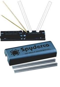 The Spyderco Sharpmaker knife sharpener system with DVD.