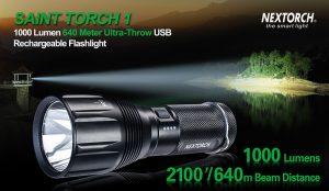 Nextorch Saint 1, 1000 Lumen rechargeable torch