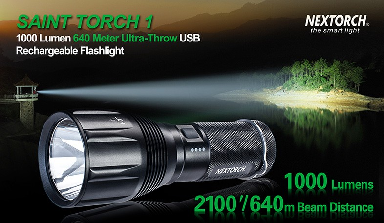 Nextorch Saint 1, 1000 Lumen rechargeable torch