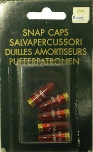 9mm snap caps available on line in South Africa for training in forearms