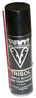 Trisol gun oil in Aerosol format. Useful for all cleaning on all guns, 9mm, 223, shotgun