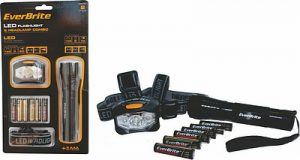 Everbrite headlamp and torch combo. An awesome stocking filler and gift.