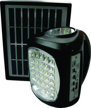 Lil bid solar powered torch and radio set