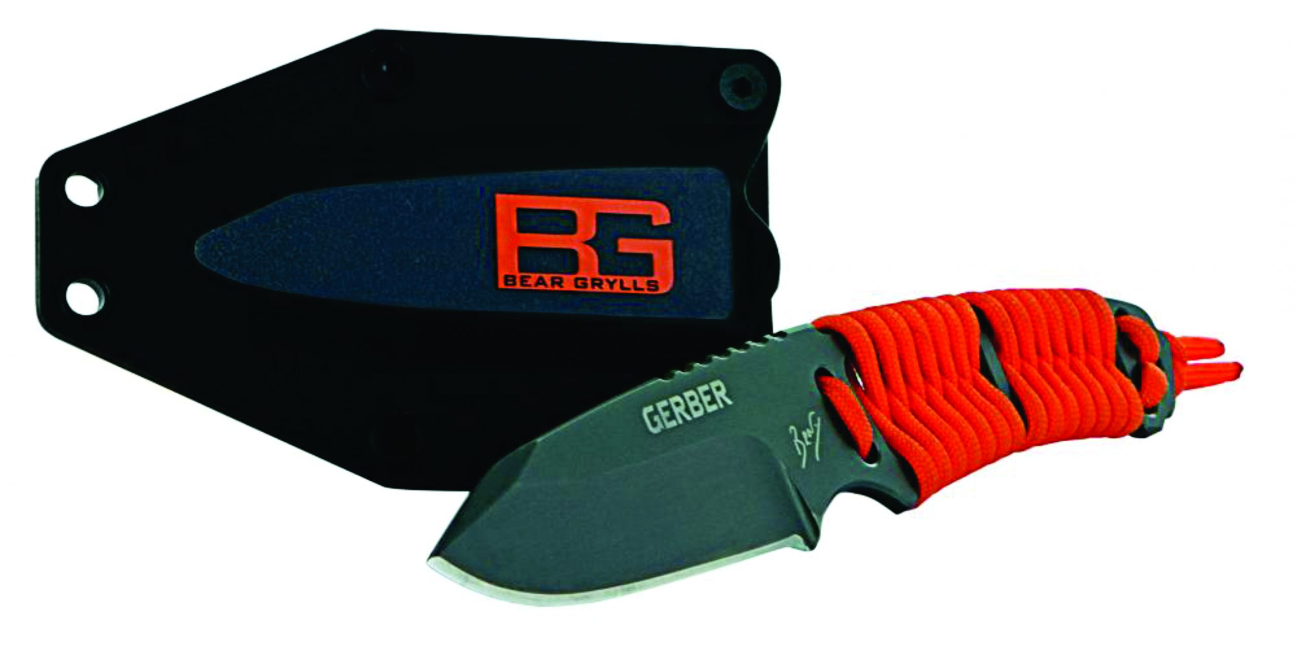 Bear Grylls Fixed blade every day carry paracord knife with kydex type sheath