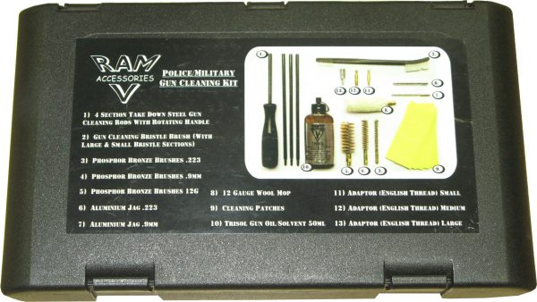 Military cleaning kit. 9mm,12g,223