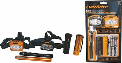 The Everbrite torch combo set. 6 x lights. great as staff gifts, stocking fillers and Christmas gifts.