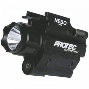 The Nebo iProtec HP190 gunlight is a 190 Lumen torch designed for use on firearms with rails for use in law enforcement and send defense.
