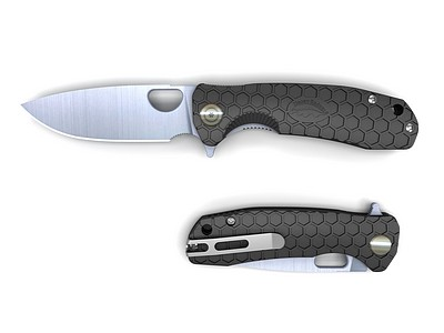 Honey Badger Flipper black folding knife